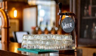 fresh water tap on the bar